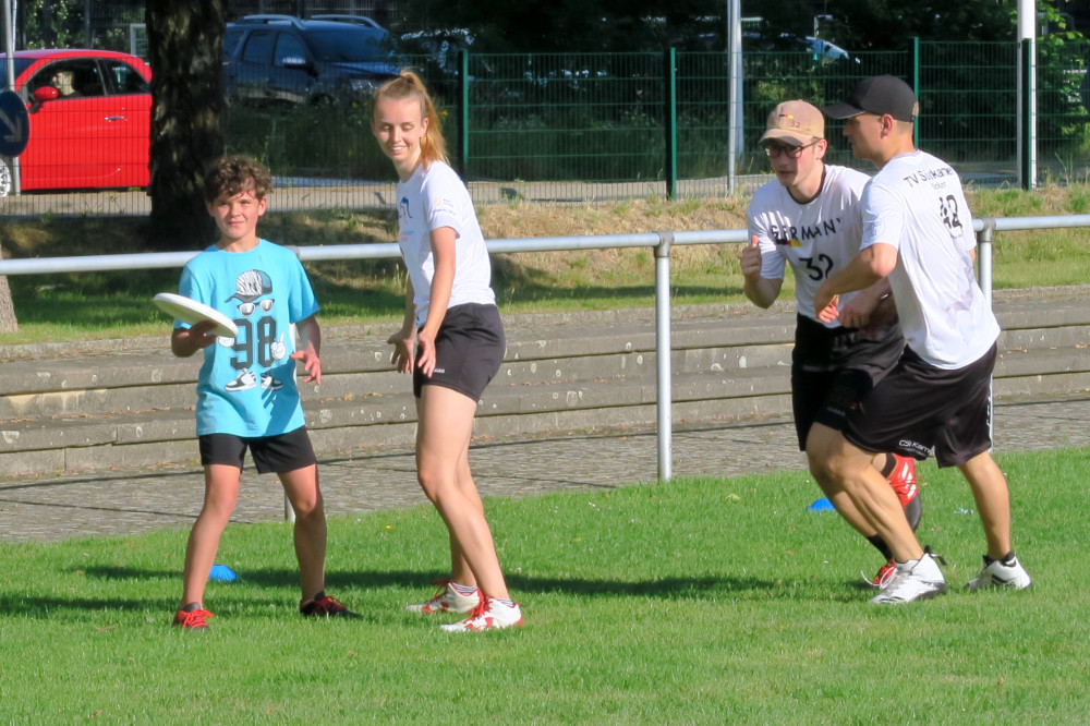Training der Ultimate Frisbee Abteilung